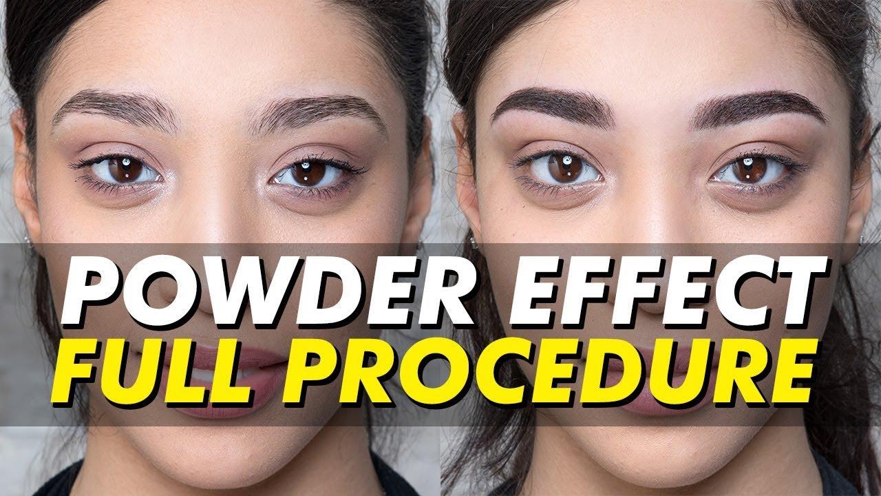 Powderombr Eyebrow Tattoo Shadedpowdered Permanent Makeup Eye
