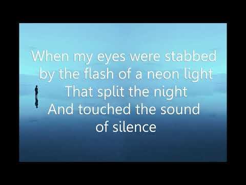The sound of silence karaoke  Female Key  (Key Am)