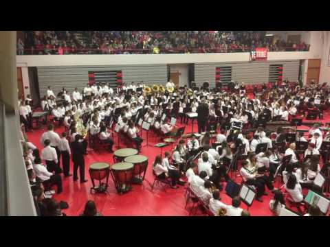Granite City High School Band, Christmas Concert, Sleigh Ride, 2016