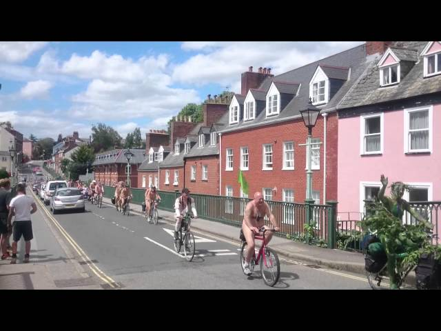 Exeter World Naked Bike Ride 2015