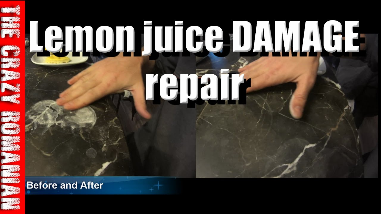 how to clean marble damged by candle