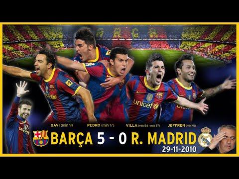 ✋ BARCELONA 5 REAL MADRID 0 (2010) El CLÁSICO De LA MANITA ⚔️ Guardiola Vs Mourinho