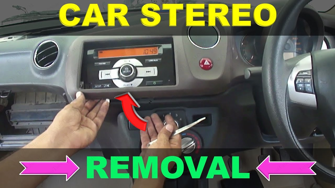 How To Remove Car Stereo Honda Amaze Youtube Vtec Wiring Harness Youtuberewind Rewind