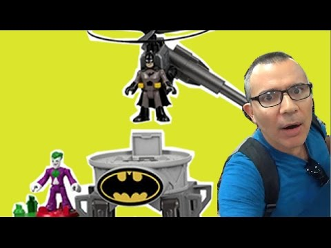 Batman Coringa Joker Torre de Voo de Gotham Imaginext Fisher Price  DC Comics Brinquedos Bonecos
