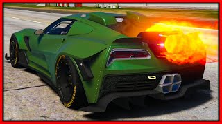 GTA 5 Roleplay - 'NEW FASTEST' Jet Engine Corvette | RedlineRP