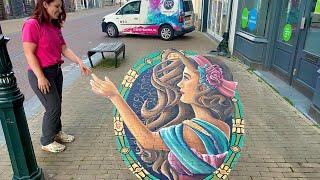 3D Street art Kampen - Art Nouveau style by Rianne te Kaat
