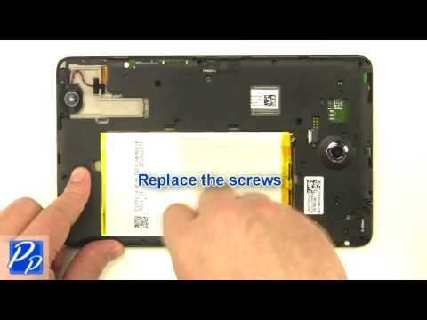 Dell Venue 8 (3830) Android 4.2 Tablet Middle Cover Replacement Video Tutorial Teardown