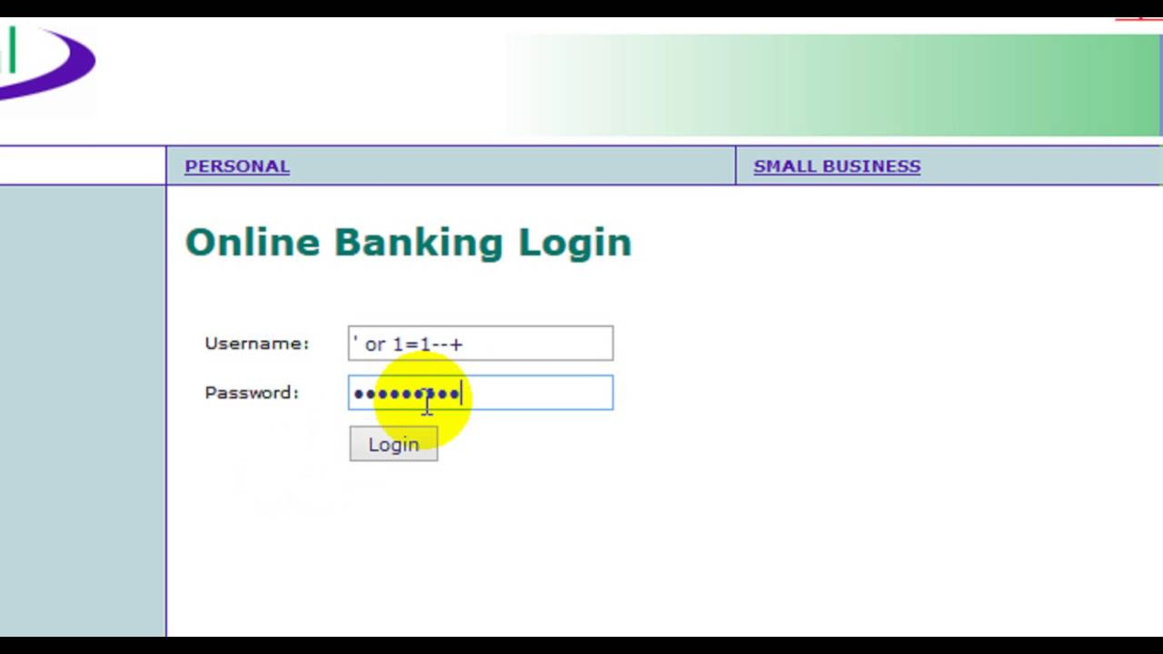 SQL Injection on Login Page