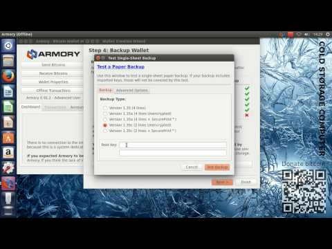 Setting up cold storage in Armory on Ubuntu 14.04