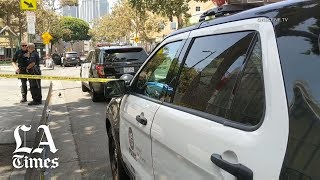 Four wounded in 'unusual' downtown L.A. shooting