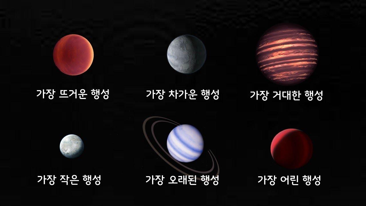 우주에서 발견된 가장 극단적인 외계 행성들 6 (분야별 최고의 행성들)