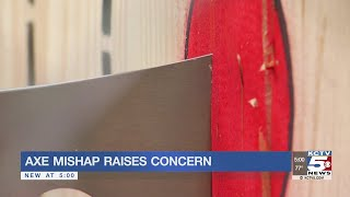 Viral video of axe mishap raises concern