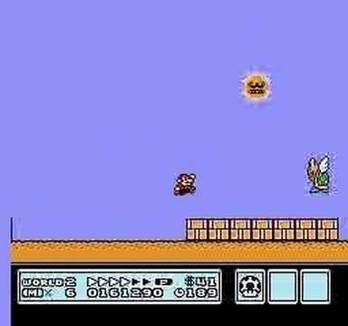Super Mario Brothers 3 Level 2 Angry Sun Youtube