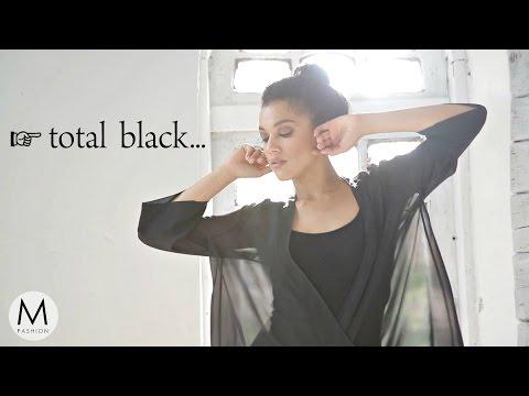 Как Носить Чёрные Вещи? Тотальный Черный Монохром в Одежде. Маха Одетая
