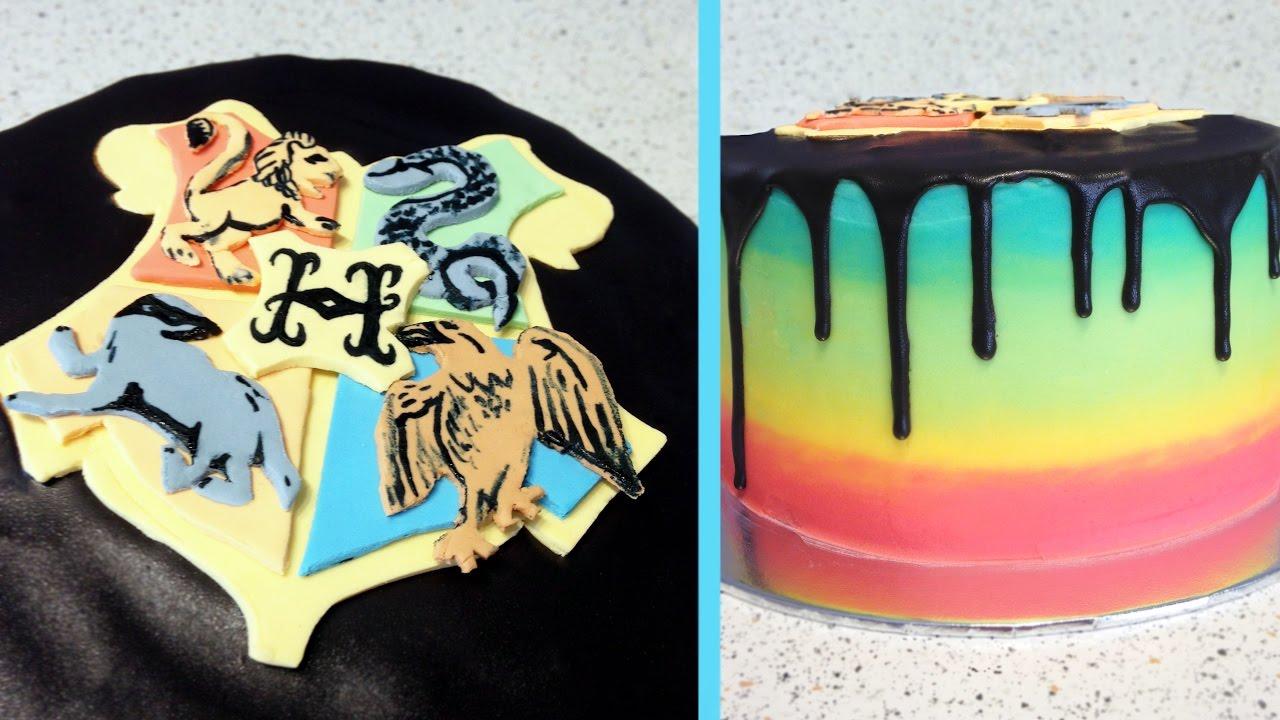 Harry Potter Hogwarts House Reveal Cake Cupcakegirl