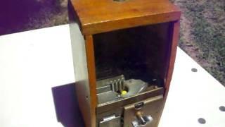 1940s Victor Wooden Gumball Machine...nice Working Shape!