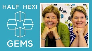 Hexi Gems Applique: Easy Quilting Tutorial with Jenny Doan of Missouri Star Quilt Co Lisa Hirsch