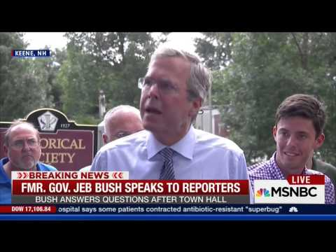 Gov. Jeb Bush Blasts Donald Trump for His Many Extreme Liberal Positions