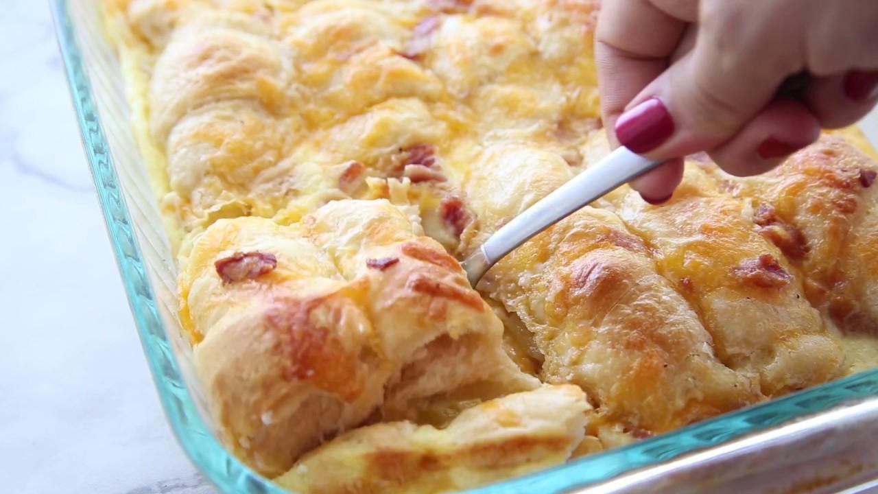 Cheesy Egg Crescent Roll Casserole
