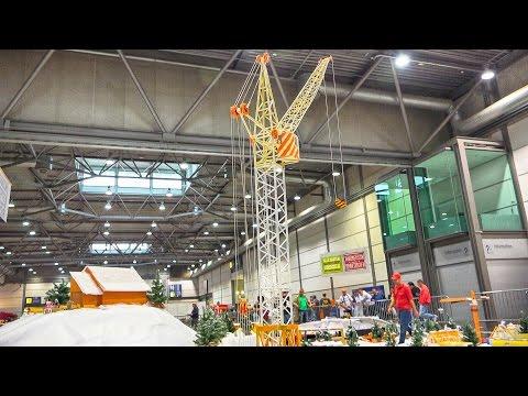 HUGE RUSIAN ROTARY TOWER CRANE KB 160-2 RC MODEL / Fair Leipzig Germany 2016