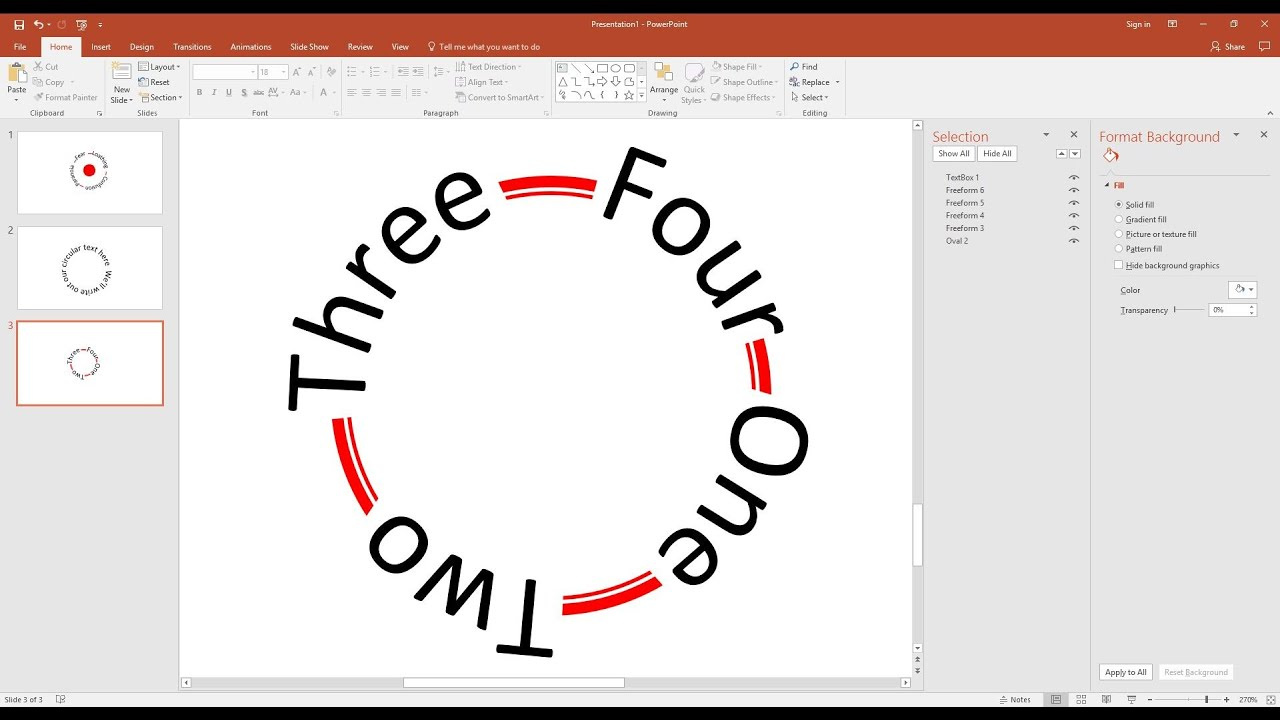 How To Make Text Follow A Circular Path In Powerpoint Youtube