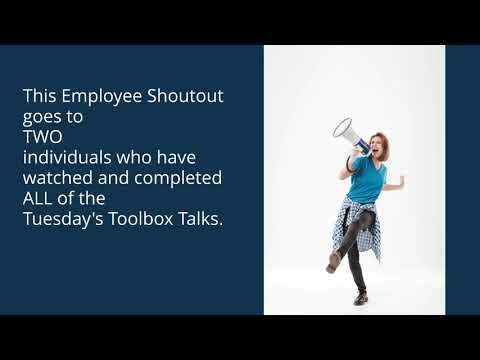 RDGE Employee Shoutout - Toolbox Talks Edition!