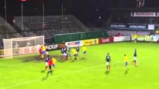 Kurzawa celebrates a bit too soon (Sweden - France, U21)