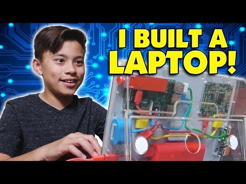 DIY LAPTOP!!! Evan Builds His First Computer!  Coding with Kano!