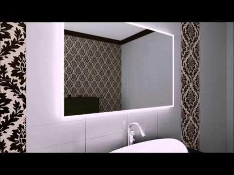 Зеркало с внутренней светодиодной подсветкой, незапотевающе - YouTube
