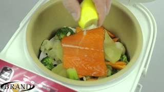 Рыба с овощами на пару в мультиварке BRAND 37501