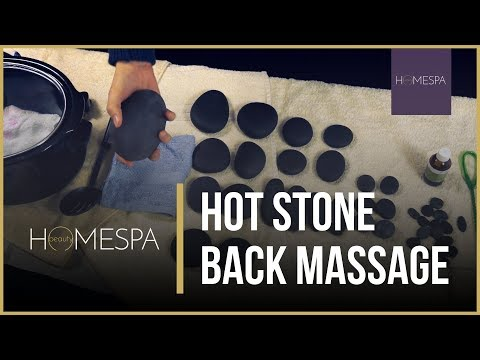 Hot Stone Back Massage Techniques [Unintentional ASMR] - Massage Demonstration and Tutorial