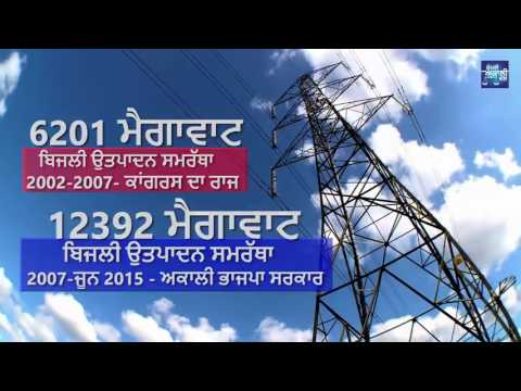 Punjab every village in the state, city, town 24 hours is taking power facility