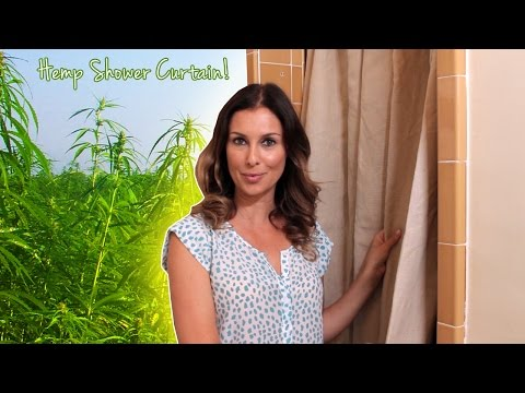 Need a New Shower Curtain? Try Hemp  - Green With Tiffany