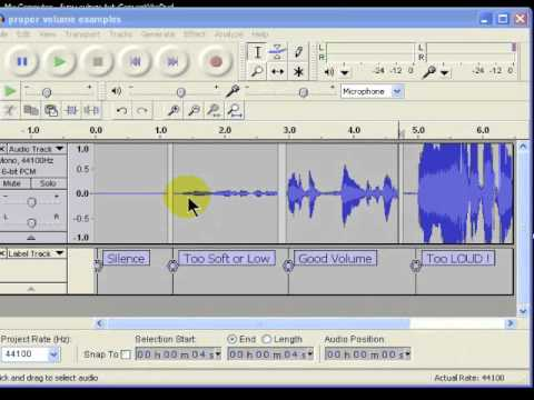 How to tell your volume level in Audacity