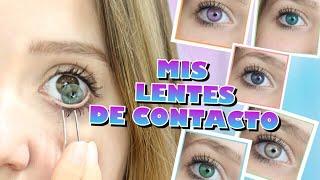 Cover images ME PRUEBO TODOS MIS LENTES DE CONTACTO!! 12 PARES! | Brenda Sander