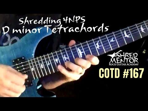 Shredding 4NPS D minor Tetrachords | ShredMentor Challenge of the Day #167
