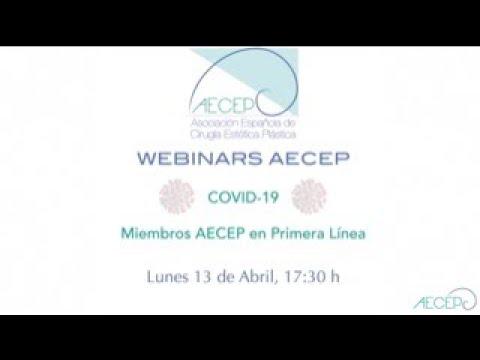 AECEP Webinars Covid-19. Parte3: Miembros AECEP en Primera Línea