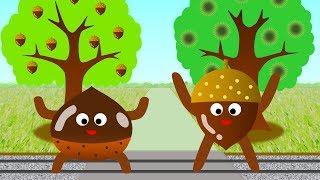 子供が好きな童謡の「どんぐりころころ」と「大きな栗の木の下で」の曲...