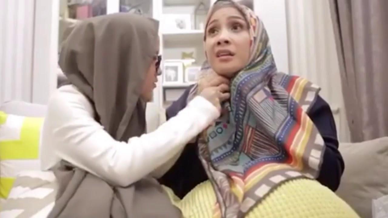 nissa sabyan ngajarin nagita slavina pakai hijab - youtube