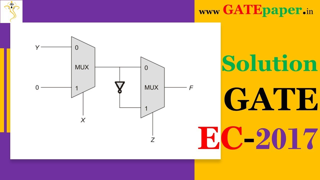 hight resolution of gate 2017 find the boolean expression implemented by given multiplexer mux