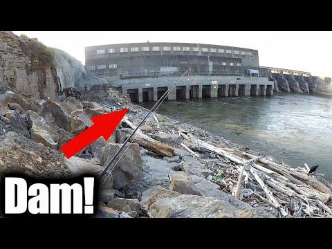 Beginner Fishing Lure - Fishing With Twister Tail Grubs Below A Dam!