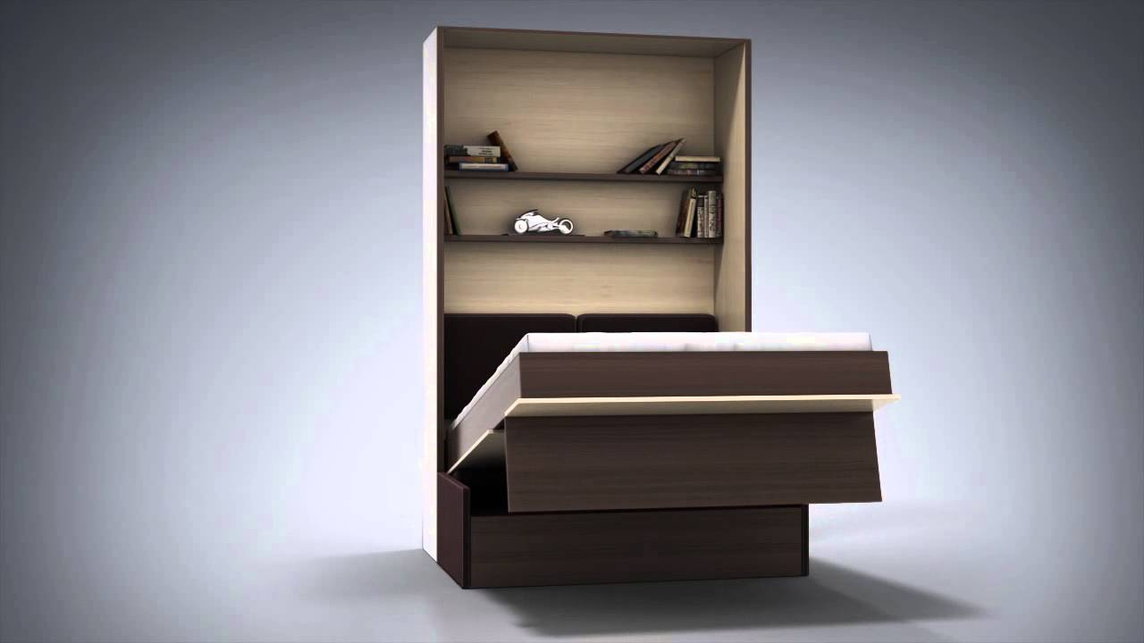 3d animation of sofa bed, transforming furniture - YouTube