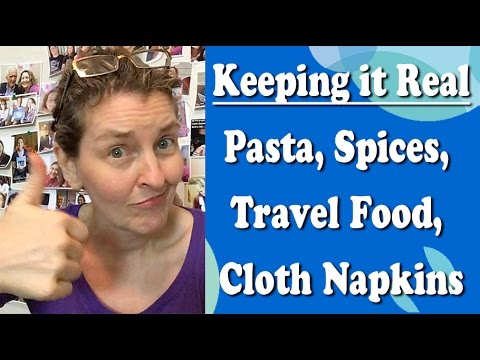 Plant-based Life Lessons-Pasta, Spices, Travel Food, Cloth Napkins