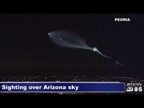 Vĭdeo del sorprendente cohete Space X por el canal ð televisiŏn AZ Family (CBS Arizona)