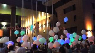 Светодиодные шары,Москва,запуск,свадьба.