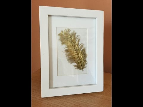Gold Feather picture frame DIY, Tutorial