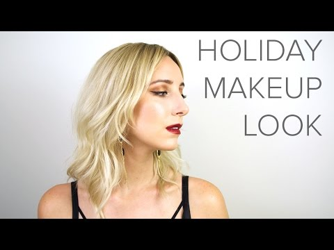 HOLIDAY LOOK: Copper Eyes and Red Lips
