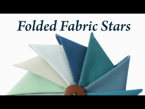 Folded Fabric Stars