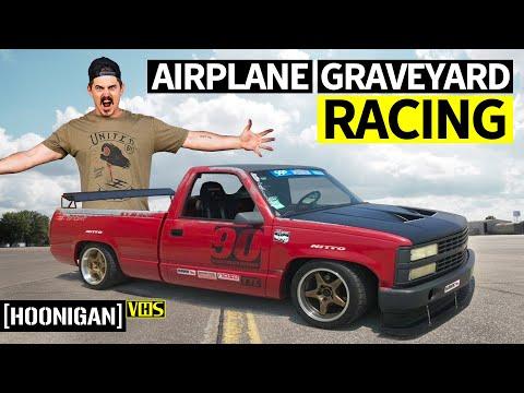797hp Dodge Challenger Hellcat Redeye, Racing in an Airplane Graveyard