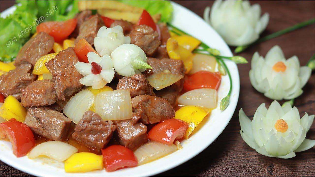 Cách ướp thịt và xào bò lúc lắc khoai tây thịt mềm ngọt ngon
